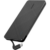Anker PowerCore+ 10000 Portable Charger With Built-In USB-C Cable (Black)