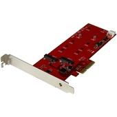 StarTech 2x M.2 SATA SSD Controller Card - PCIe