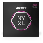 D'Addario NYXL45130 Regular Light 5-string Long Scale Nickel Wound Bass Strings - .045-.130