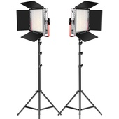 GVM Bi-Colour LED 2-Light Kit with Stands - Open Box Special