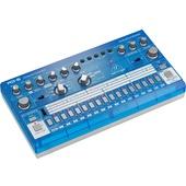 Behringer Rhythm Designer RD-6 Analog Drum Machine with 64-Step Sequencer (Blue Translucent)