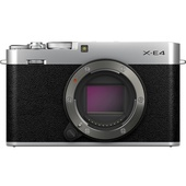 Fujifilm X-E4 Mirrorless Digital Camera Kit with MHG-XE4 Grip and TR-XE4 Thumb Rest (Silver)