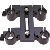 Cavision Dual Vertical Offset Bracket for 15mm Rods (80mm T-Part Height)