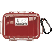 Pelican 1010 Micro Case (Red/Clear)