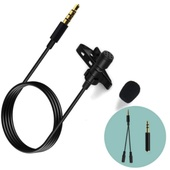 MAMEN KM-A1 Clip On Lavalier Mic Microphone kit for Smartphone, Camera or PC