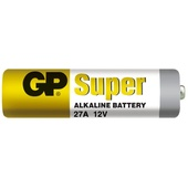Maxell GP Alkaline A27 12V Battery (5 Pack)
