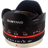 Samyang 7.5mm f/3.5 UMC Fisheye MFT Lens (Black)
