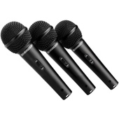 Behringer XM-1800S Dynamic Handheld Microphone (3-Pack)