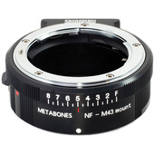 Metabones Nikon G Lens to Micro Four Thirds Lens Mount Adapter (Matte Black)