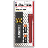 Maglite SP+P03H Mini Maglite Pro+ 2AA LED Flashlight with Holster (Red)