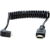Atomos Micro HDMI Right Angle to Full HDMI Coiled Cable (30-45 cm)