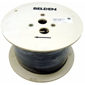 Belden 1694A RG6 Low Loss Serial Digital Coaxial Cable (1000', Black)