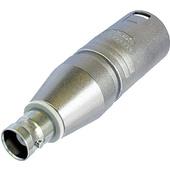 Neutrik NA2MBNC 3-Pole XLR Male to BNC Female Adapter