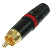 Neutrik NYS373-2 REAN DIN Red RCA Plug w/ Gold Contacts
