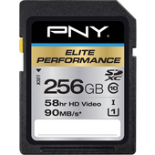 PNY Technologies 256GB Elite Performance SDXC Class 10 UHS-1 Memory Card