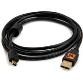 Tether Tools TetherPro USB 2.0 A Male to Mini-B 5 Pin (Black, 6')
