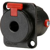 Neutrik NJ3FP6C-BAG Locking Chassis-Mount Female Stereo (TRS) Phone Connector- Black