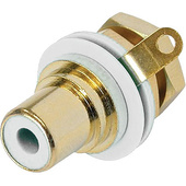 Neutrik RCA Jack Chassis Mount Socket (Gold/White)