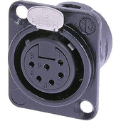 Neutrik NC6FD-L-B-1 Female Receptacle Connector (6-Pole)