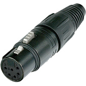 Neutrik NC6FX-B 6-Pole Female Cable Connector