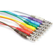 "Hosa CPP-845 1/4"" TS Male Patch Cable 8-pack - 1.5' (Various Colors)"