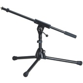 K&M 259/1 Extra Low Microphone Stand with Boom Arm (Black)