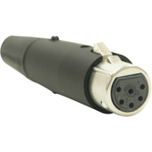 Switchcraft A Series 6-Pin XLR Female Cable Mount (Black, Silver)