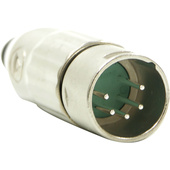 Switchcraft AAA Series 5-Pin XLR Male Cable Mount (Nickel Metal, Silver)