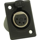 Switchcraft D Series 4-Pin XLR Female (Black Finish, Silver Pins)