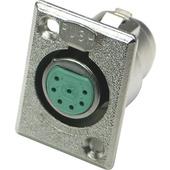 Switchcraft D Series 7-Pin XLR Female (Nickel Finish, Silver Pins)