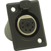 Switchcraft D Series 7-Pin XLR Female (Black Finish, Silver Pins)