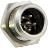 Switchcraft Tini-QG Mini XLR 5-Pin Male Circular Panel Mount (Nickel)