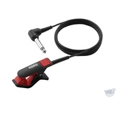"Korg CM-200 Clip-On Contact Microphone with 1/4"" Jack (Black / Red)"