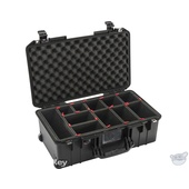 Pelican 1535 Air Wheeled Carry-On Case (Black, with TrekPak Insert)