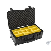 Pelican 1535 Air Wheeled Carry-On Case (Black, with Dividers)