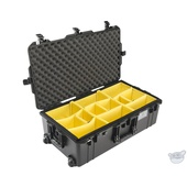 Pelican 1615 Air Wheeled Check-In Case (Black, with Dividers)