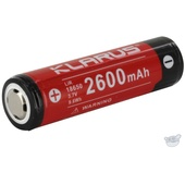 Klarus 18650 BAT-26 Li-Ion Rechargeable Battery (3.7V, 2600mAh)