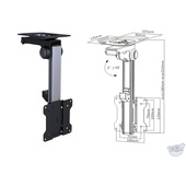 """Brateck LCD-CM211 13-27"""" Folding LCD Ceiling/Under Cabinet Mount"""