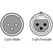 CHAUVET 3-Pin DMX Cable (White, 5')