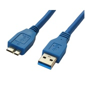 DYNAMIX USB 3.0 Type Micro B Male to Type A Male Connector (Blue, 1 m)