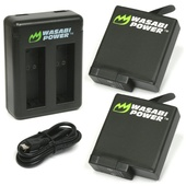 Wasabi Power Battery (2-Pack) & Dual Charger for GoPro HERO 5, HERO5 Black & HERO6