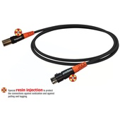 "Bespeco Silos SLFM100 XLR Male to XLR Female Microphone Cable  (Black/Orange, 39"")"