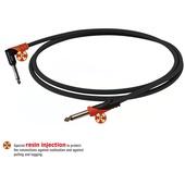 "Bespeco 1/4"" Mono Jack to 1/4"" Mono Jack Instrument Cable (Black/Orange, 39"")"