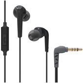 MEE audio RX18P Comfort-Fit In-Ear Headphones with Enhanced Bass and Inline Mic (Black)