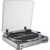 Audio Technica AT-LP60USB Fully Automatic Belt-Drive Turntable (Gunmetal)