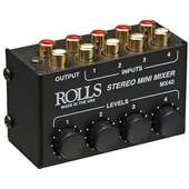 Rolls MX42 4-Channel Passive Mini Stereo Mixer