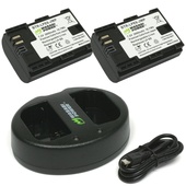 Wasabi Power Battery and Dual USB Charger for Canon LP-E6 (2-Pack)