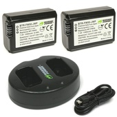 Wasabi Power Battery and Dual USB Charger for Sony NP-FW50 (2-Pack)