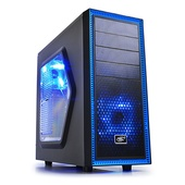 Deepcool Tasseract SW Black Mid Tower Case with Side Window Including 2 Blue 120mm LED Fans