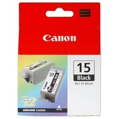 Canon BCI-15 Black Ink Cartridge Twin Pack